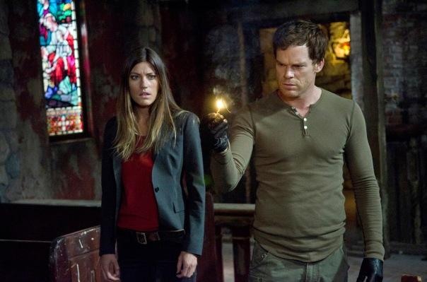 """Deb (Jennifer Carpenter) and Dex (Michael C. Hall) in the seventh season premiere, """"Are You...?"""""""