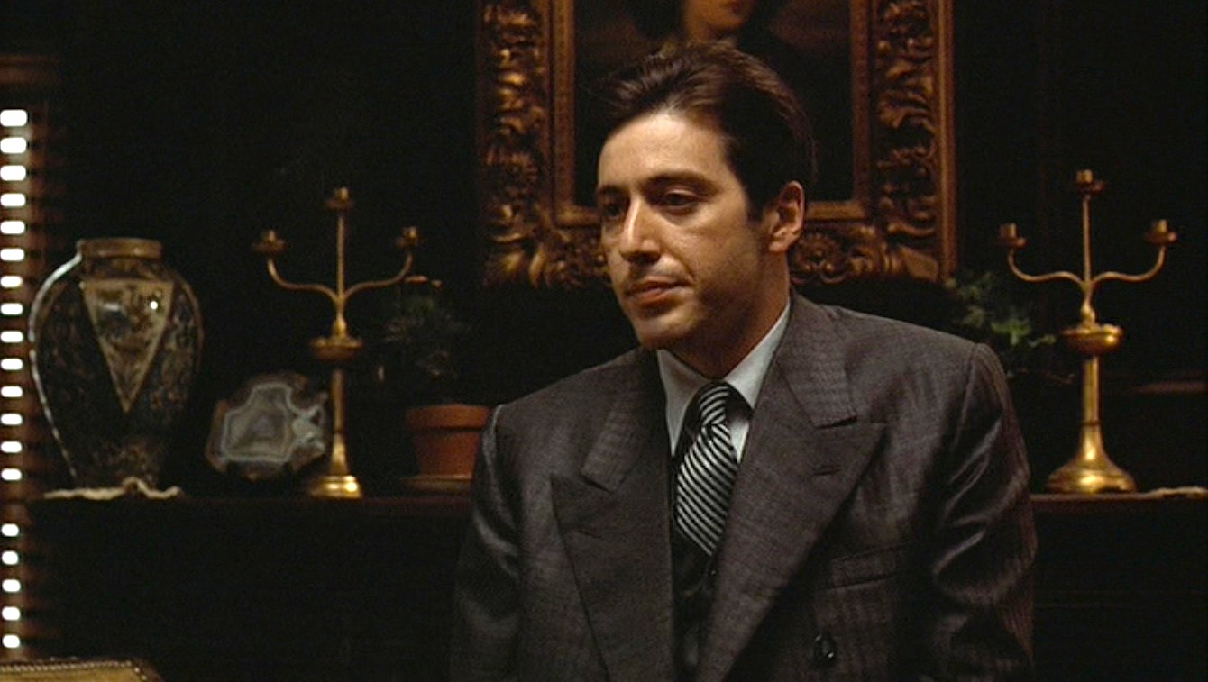 Michael Corleone's Gray Striped Suit in The Godfather ...