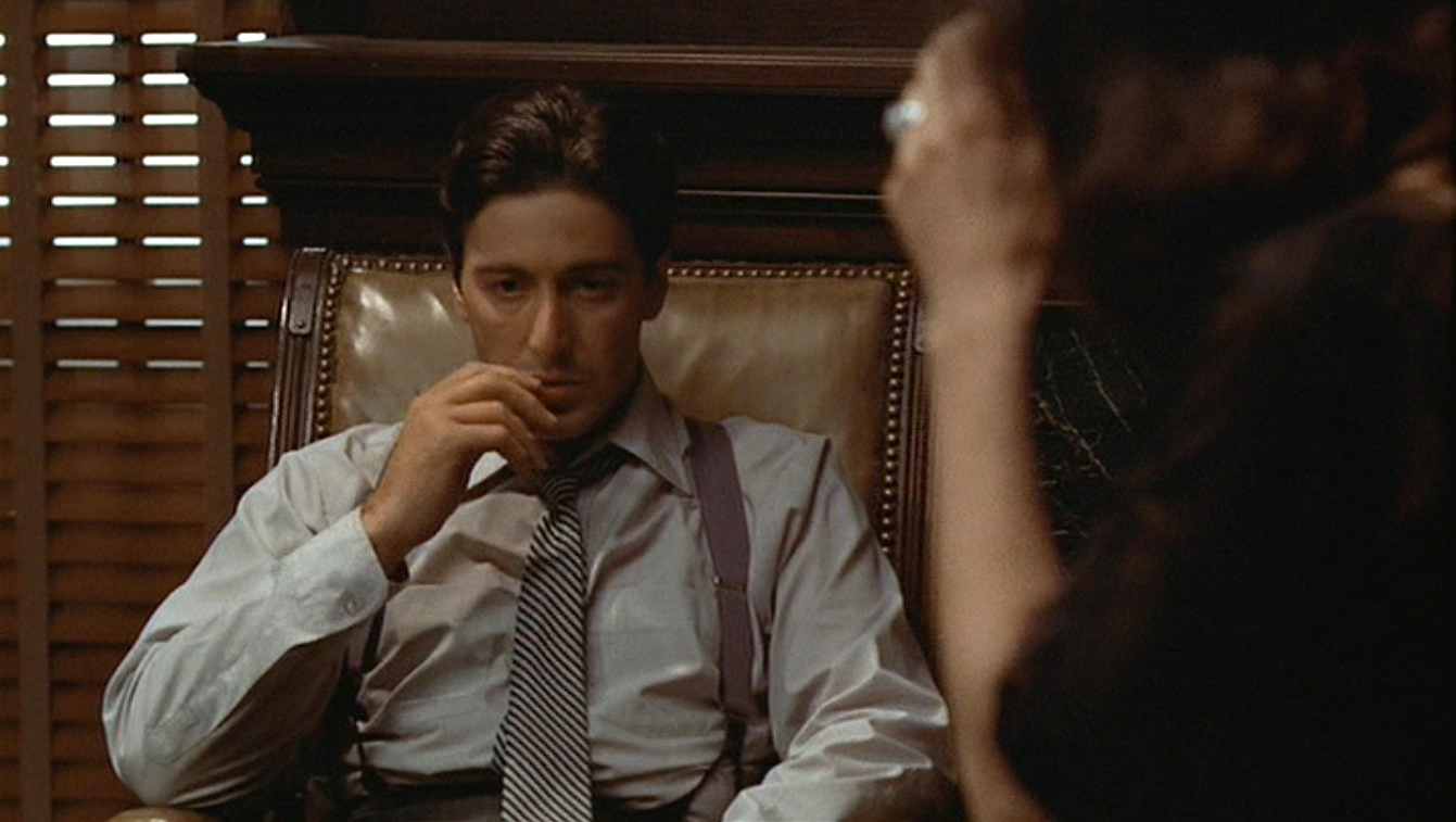 Michael Corleone S Gray Striped Suit In The Godfather
