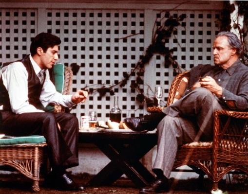 Pacino and Brando: Titans.