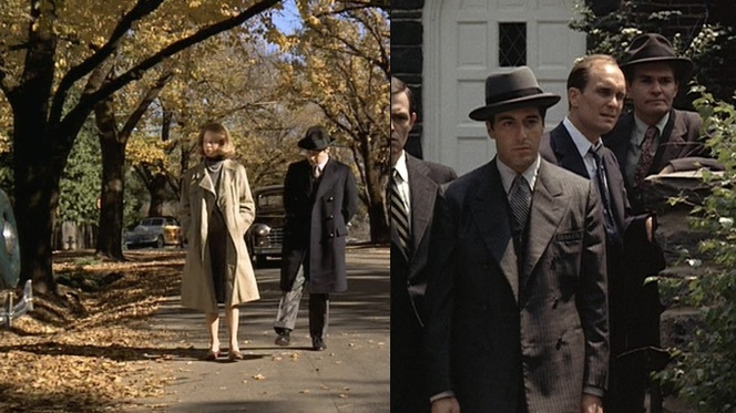 Michael and Kay in 1950 (left); Michael and associates in 1955 (right).