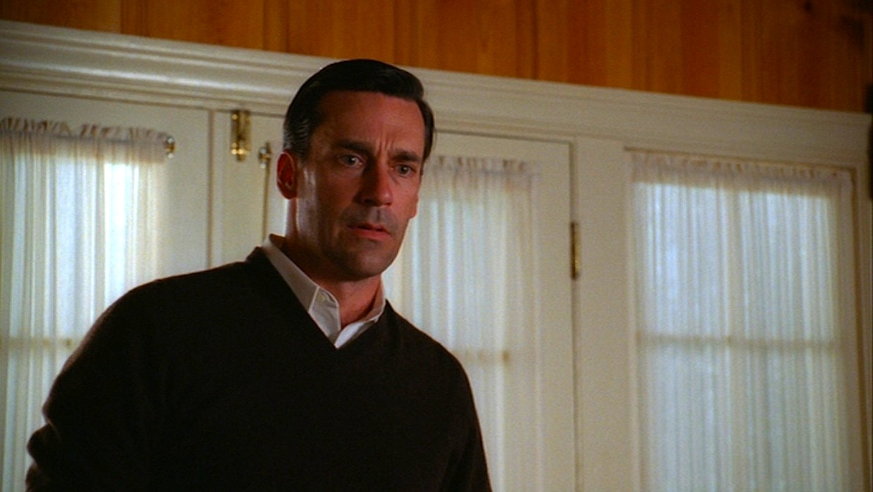Mad Men Dons Brown Sweater In The Grown Ups Bamf Style