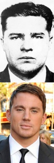 """Pretty Boy"" c. 1930, and his portrayer Channing Tatum eighty years later."