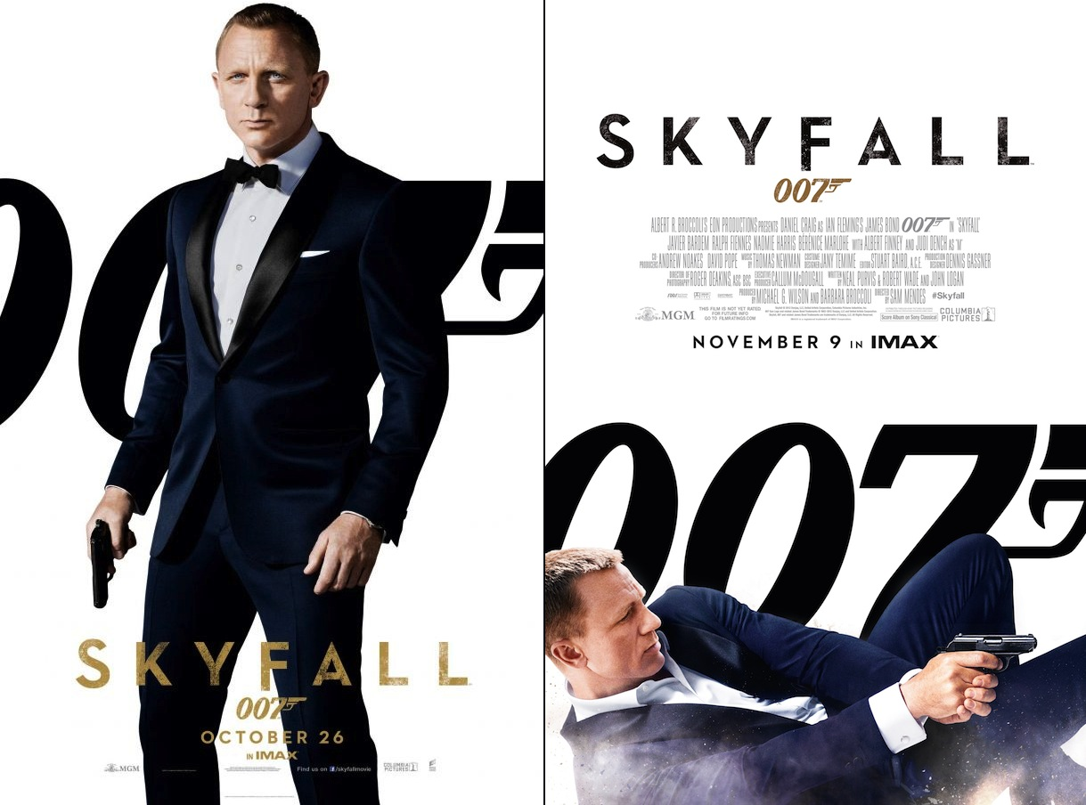 Promotion for Skyfall utilized the dark blue dinner suit to emphasize both  the series  return 5db431326fd