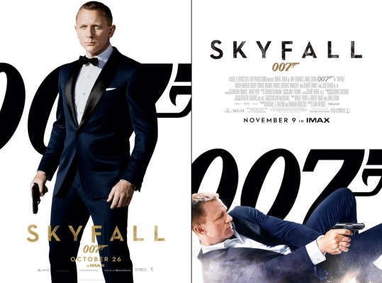 Promotion for Skyfall utilized the dark blue dinner suit to emphasize both the series' return to a focus on style balanced with action after both the Casino Royale reboot and the Bourne-like ruggedness of Quantum of Solace.