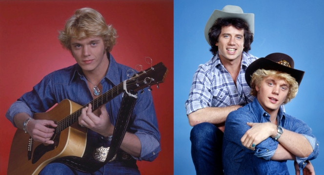 Schneider poses for two studio shots before filming began on the Dukes. Never would we see Bo bedazzled in turquoise or holding the guitar that snuck its way into many of these photos. Even the actual hat he wore in the pilot was different than the one featured here.