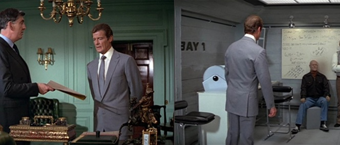 Bond is equally comfortable in the snooty upstairs office of the Minister of Defence as he is down among Q's lab techs.