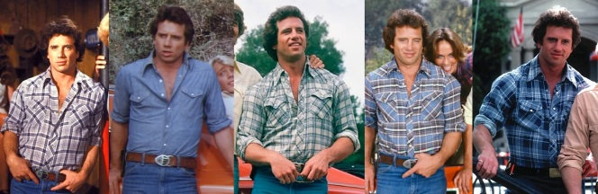The progression of Luke's shirts from the first season through the end.