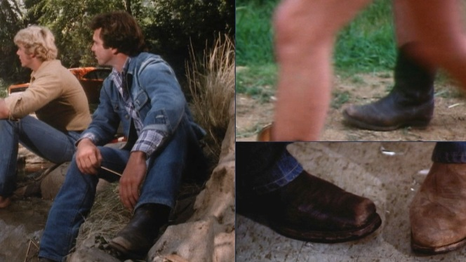 Luke's boots, as seen in various episodes of the first season.