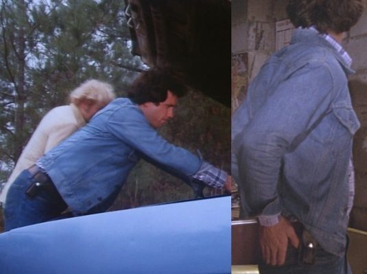 "Luke's ubiquitous knife as seen holstered in ""Mary Kaye's Baby"" (Episode 1.03) and ""Repo Men"" (Episode 1.04)."