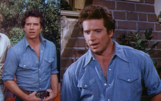 "Luke sporting chambray in ""Duke of Duke"" (Episode 2.13)."