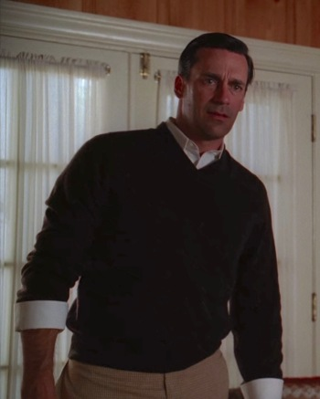 "Jon Hamm as Don Draper in ""The Grown-Ups"", Episode 3.12 of Mad Men."