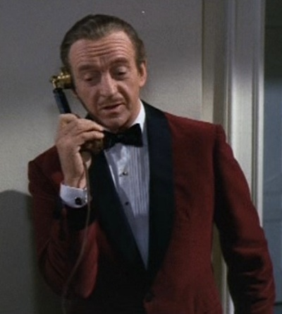 David Niven as Sir Charles Lytton in The Pink Panther (1963).