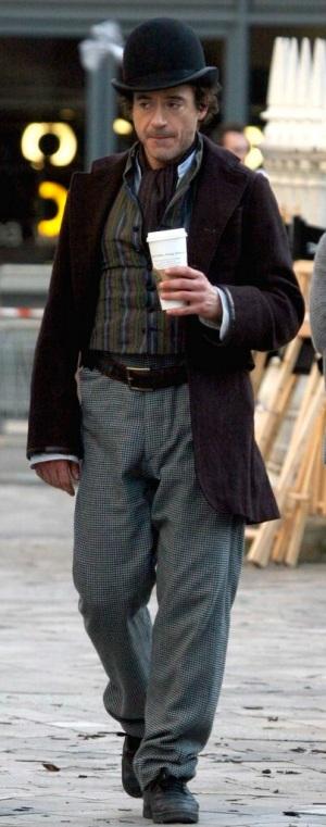 Evidently, Downey likes Starbucks.