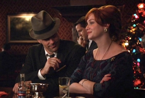 Like all situations, drinking alone at the bar is much better with Christina Hendricks around.