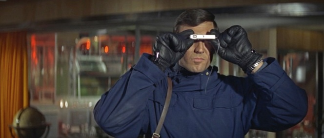 Bond uses his Minox A/IIIs inside Blofeld's lair.