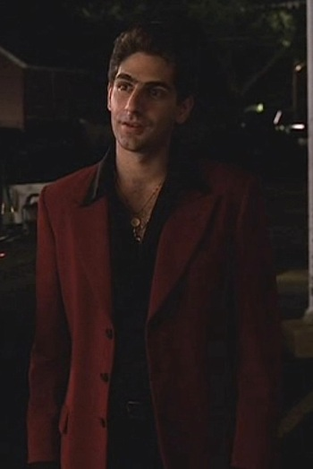 "Michael Imperioli as Christopher Moltisanti in ""A Hit is a Hit"", episode 1.10 of The Sopranos."