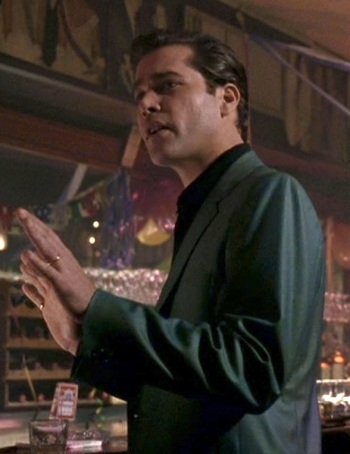 Ray Liotta as Henry Hill in Goodfellas (1990).