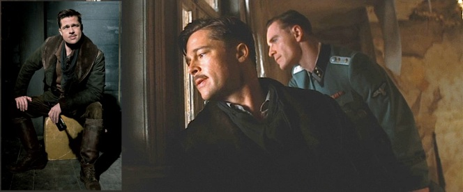 Belstaff made a big deal about one of its custom-designed hero coats appearing in Inglourious Basterds, neglecting to mention that it only appears in one shot.
