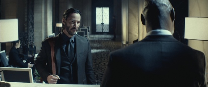 John Wick rents a room from Lt. Daniels.