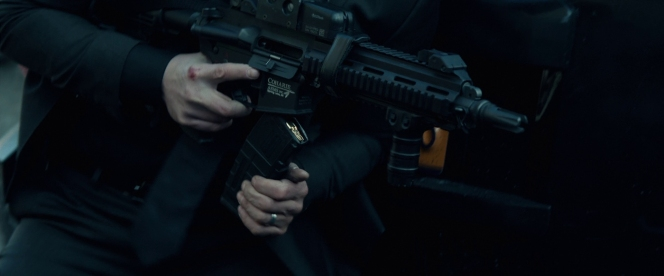 A conscientious shooter like Wick keeps his finger off the trigger at all times when he's not shooting, even when he wants to kill everyone around him.