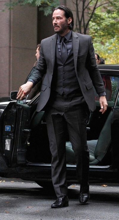 Keanu Reeves as John Wick in John Wick (2014).