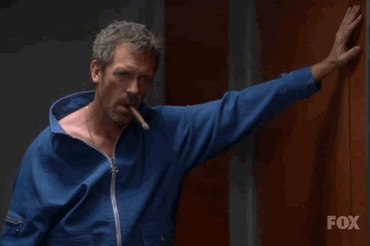 Hugh Laurie channels Steve McQueen.