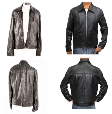The stunt-used D&G jacket (left) and the Amazon-sold replica (right).