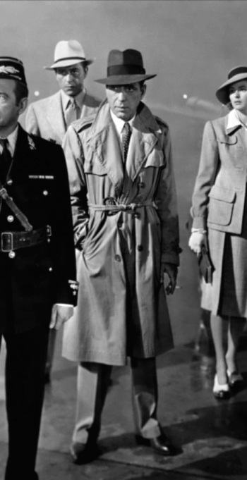 Humphrey Bogart as Rick Blaine in Casablanca (1942).