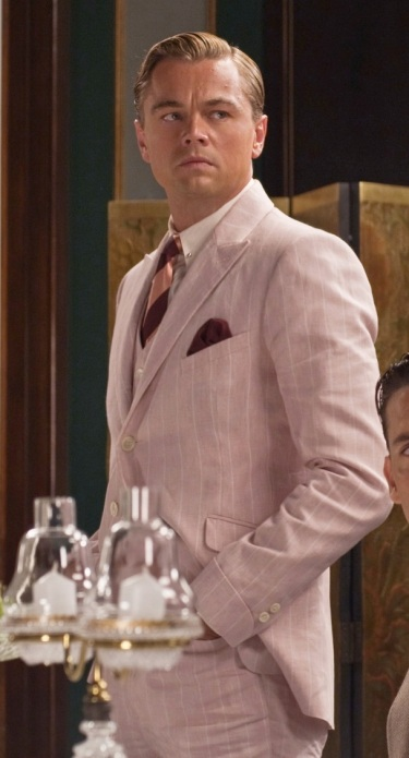 Leonardo DiCaprio as Jay Gatsby in The Great Gatsby (2013).
