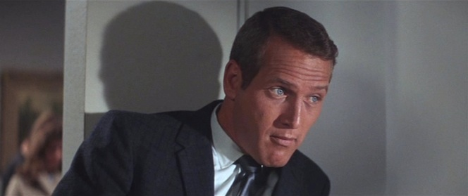 A nice blue suit plays nicely with Paul Newman's legendary blue eyes.