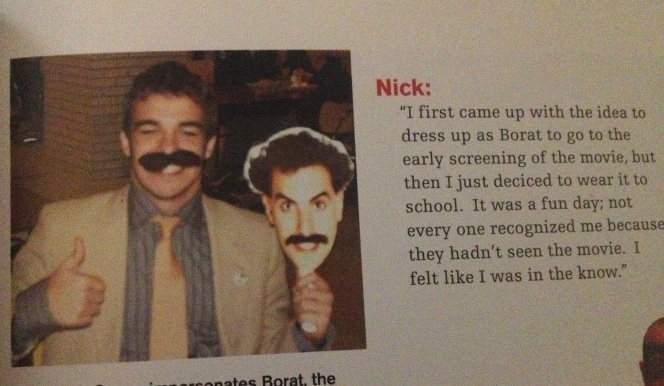 A snippet from my high school yearbook.