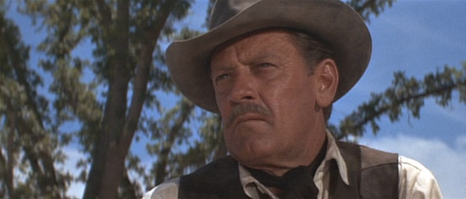"His kerchief serves as a practical sweat-catcher rather than a flashy ""hey, look I'm in a Western!"" purpose."