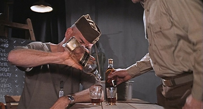 Lee Marvin makes a much better spokesman for the whisky than Johnny Drama (cringe).