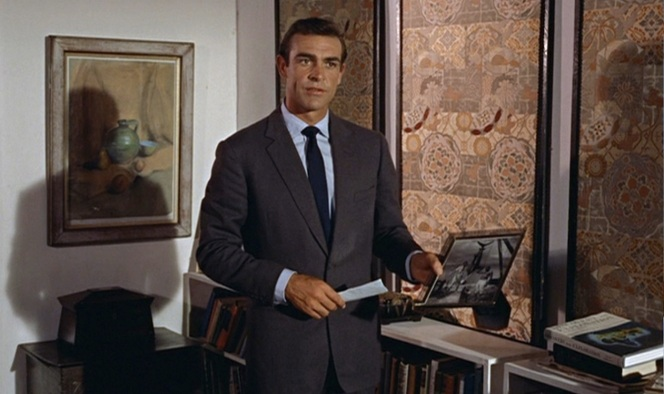 "Connery in a Sinclair-tailored ""Conduit cut"" suit: classic from the get-go."