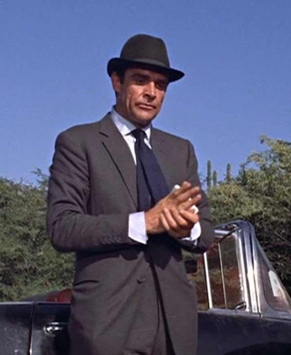 Bond S Gray Flannel Suit And 57 Chevy In Dr No Bamf Style
