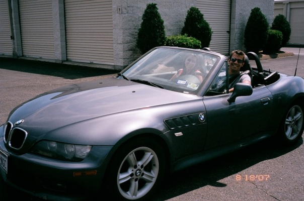 Yours truly (with my sister) behind the wheel of my uncle's Z3 back in 2007.