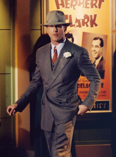Ryan Gosling as Sgt. Jerry Wooters in Gangster Squad (2013).