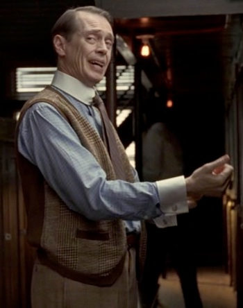 "Steve Buscemi as ""Nucky"" Thompson on Boardwalk Empire (Episode 2.05: ""Gimcrack & Bunkum"")."