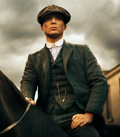 peaky blinders � tommy�s gray striped herringbone suit