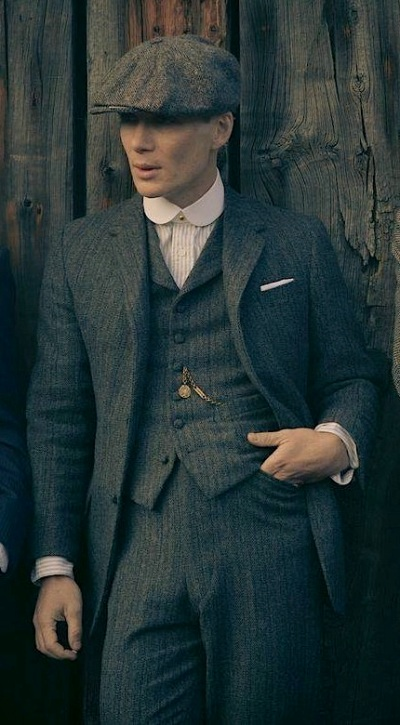 Cillian Murphy as Tommy Shelby on Peaky Blinders.