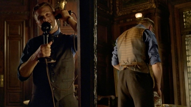 """Jimmy resigns himself to his fate after getting a call from Nucky in """"To the Lost"""" (2.12)."""