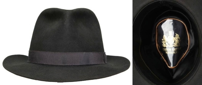 Jimmy's hat, auctioned by Screenbid.com and manufactured by The Custom Hatter.