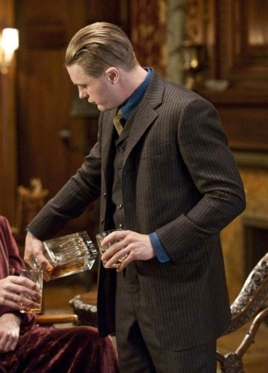 "Michael Pitt pours some brandy as Jimmy Darmody on Boardwalk Empire. (Episode 1.12: ""A Return to Normalcy)"