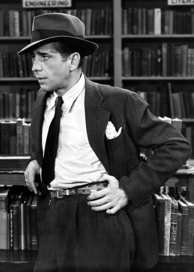 Humphrey Bogart as Philip Marlowe in The Big Sleep (1946).