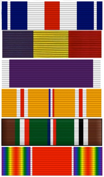 Graphic representations of all of Michael's ribbons.
