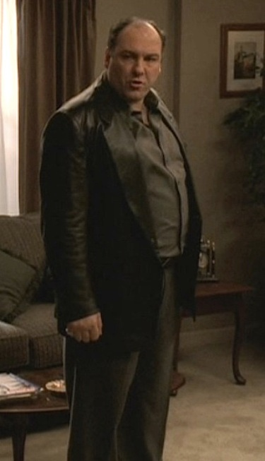 "James Gandolfini as Tony Soprano on ""The Sopranos"". (Episode 5.13, ""All Due Respect"")"
