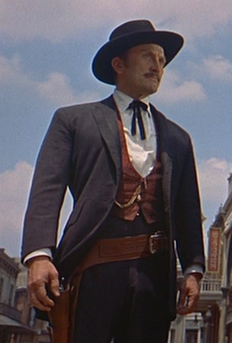 b22f6321b Kirk Douglas as Doc Holliday – Charcoal Western Suit | BAMF Style