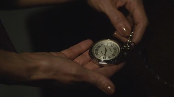 A shot of Boyd's Gotham watch, seen earlier in the season when he first began wearing it.