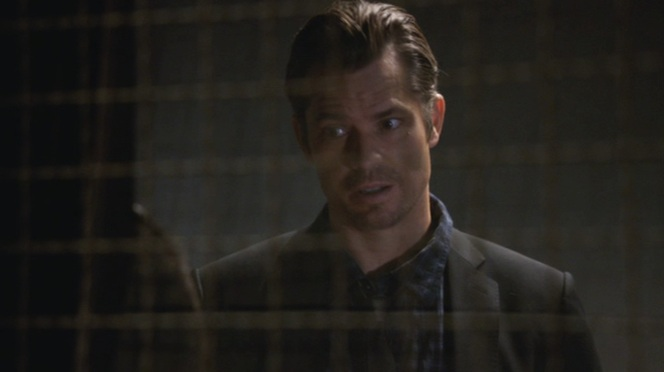"No talk with Dewey Crowe is ever a pleasant one. Luckily for Raylan, their discussion in ""Cottonmouth"" (Episode 2.05) is kept relatively short."